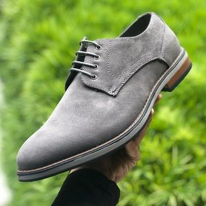 Other - Grey Vegan Suede Lace Up Oxfords